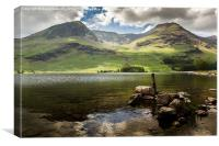 High Crag & High Stile, Canvas Print