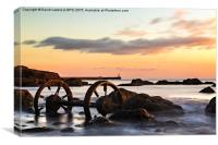 Old Wheels - Seaham, Canvas Print