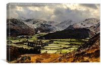Borrowdale Valley in Winter, Canvas Print
