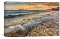 St Mary's Lighthouse, Canvas Print