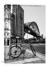 Tyne Bridge and Bicycle, Canvas Print