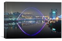 Gateshead Millennium Bridge, Canvas Print