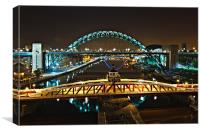 Bridges of the River Tyne, Newcastle. UK, Canvas Print