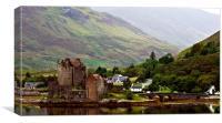 Eilean Donan Castle - A Different View, Canvas Print