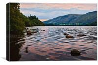 Pastel Sunrise Ullswater, Cumbria, Canvas Print