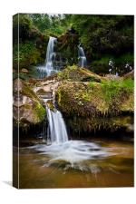 Scottish Borders Waterfall, Canvas Print
