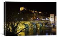 Durham Castle & Old Elvet Bridge, Canvas Print