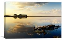 Smiddy Shaw Reservoir, Consett, Canvas Print