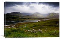 Black Cuillin Mountains, Isle of Skye, Canvas Print