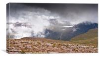 Loch Etchachan and Derry Cairngorm, Canvas Print