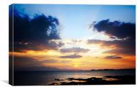Saultcoats Sunset, Canvas Print