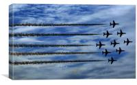 Red Arrows Diamond Formation, Canvas Print