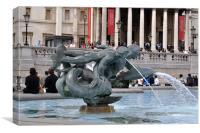 statue fountain, Canvas Print