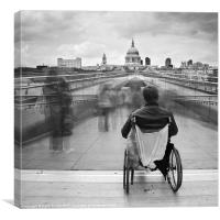 Invisible ..... Millennium Bridge, London, Canvas Print