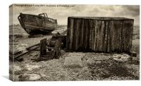 Boat and Winch, Dungeness, Canvas Print