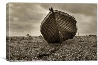 Abandoned Fishing Boat, Dungeness, Canvas Print