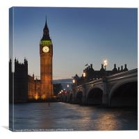 Big Ben, Westminster, London, Canvas Print