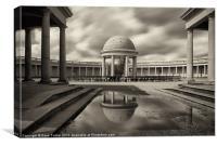 Eaton Park Bandstand, Norwich, Canvas Print