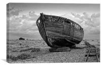 The Abandoned Boat, Dungeness, Kent, Canvas Print