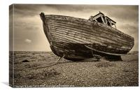 Abandoned Fishing Boat, Dungeness, Kent, Canvas Print