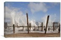 Sea Defences, Happisburgh, Norfolk, Canvas Print