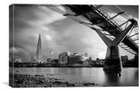 The Shard Skyline, London, Canvas Print