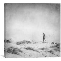 One Man and his Dog, Wells Next the Sea, Norfolk, Canvas Print