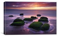 Green Boulders, Hunstanton, Norfolk, Canvas Print