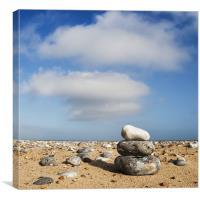 Three Clouds ... Three Pebbles ..., Canvas Print