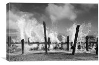 The Splash ..... Happisburgh, Norfolk, Canvas Print