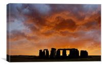 New Dawn ..... Stonehenge, Canvas Print