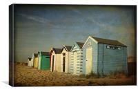 Beach Huts at Southwold, Suffolk, Canvas Print