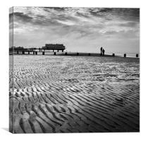 Cleethorpes Beach, Lincolnshire, Canvas Print