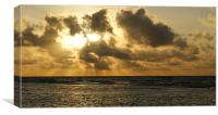 Sunburst sunset, Canvas Print