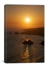 Aphrodite Sunset, Canvas Print