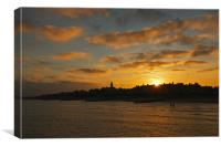 Sunset Over Southwold, Canvas Print