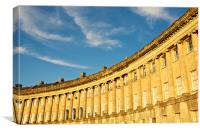 The Royal Crescent, Bath, Canvas Print