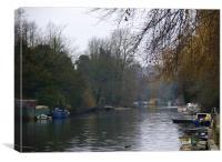 Riverside, River Yare, Norwich, Canvas Print