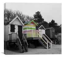 Beach Huts at Wells-Next-the- Sea, Canvas Print