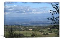View from the foothills, Rhone Alps, Canvas Print
