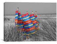 Seaside windbreak, Canvas Print