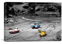 Port Isaac boats, Canvas Print