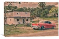 The Old Chevrolet Car , Canvas Print
