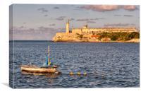 Afternoon Sun over Havana Bay, Canvas Print