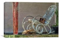 Rocking Chair on a porch, Canvas Print