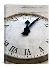 Clock, Roman, time, Canvas Print