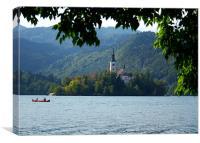 Lake Bohinj, Slovenia, kayaking, Canvas Print