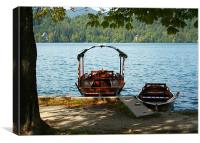 Lake Bohinj, Slovenia, boating, Canvas Print