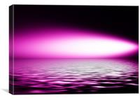 Artistic, reflection, purple, Canvas Print