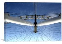 London, London Eye, travel, Canvas Print